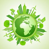 Eco earth with go green concept
