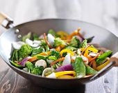 picture of chinese wok  - vegetarian wok stir fry - JPG