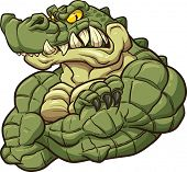 pic of alligator  - Strong angry alligator mascot - JPG