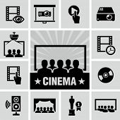 picture of movie theater  - Movies icon - JPG