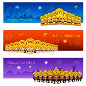 pic of navratri  - illustration of Raavana with ten heads for Dussehra - JPG