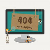 picture of not found  - Page not found 404 error eps10 vector format - JPG