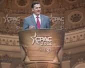 NATIONAL HARBOR, MD - MARCH 8, 2014: Heritage Foundation president Jim DeMint speaks at the Conserva