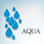 picture of water shortage  - World Water Day concept with blue water drops on grey background - JPG