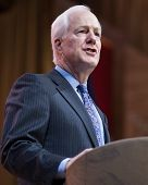 NATIONAL HARBOR, MD - MARCH 7, 2014: Senator John Cornyn (R-TX) speaks at the Conservative Political