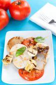 image of mahi  - fresh slice of hake baked with vegetables - JPG