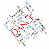 stock photo of jive  - Dance Word Cloud Concept angled with great terms such as music classes ballroom and more - JPG