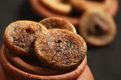 stock photo of potassium  - Figs are one of the highest plant sources of calcium and fiber - JPG
