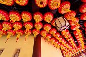 Wuxi,China-February 5,2014:Abstract Ceiling Design in an Oriental Temple in wuxi,china on February 5