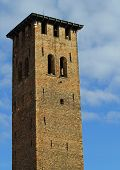 Ancient Medieval Tower For The Defense Of The Town By The Barbarian Invasions