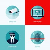 pic of theft  - Modern flat vector concepts of security and surveillance - JPG