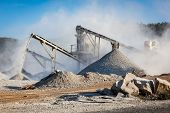 image of sand gravel  - Industrial background  - JPG