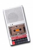 stock photo of magnetic tape  - Old Cassette Tape player and recorder on a white background - JPG