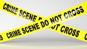 stock photo of crime scene  - 3D render of Crime scene tape - JPG
