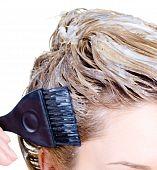 image of hair dye  - Fragment of woman - JPG