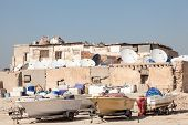 picture of kuwait  - Boats outside of a residential house in Kuwait Middle East - JPG