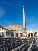 pic of pilaster  - Empty seats on Saint Peter - JPG