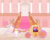picture of carriage horse  - Beautiful fairytale pink carriage - JPG