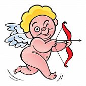stock photo of archer  - Cupid  - JPG