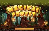 stock photo of fireflies  - Boot screen to the computer game magic forest - JPG