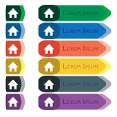 picture of home addition  - Home Main page icon sign - JPG