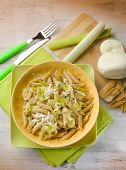 picture of leek  - pasta with leek and scamorza cheese - JPG