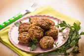 pic of meatball  - meatballs with parsley - JPG
