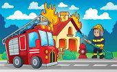 image of firefighter  - Firefighter theme image 4  - JPG