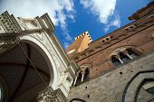 foto of piazza  - Piazza del Campo in Siena Tuscany Italy - JPG