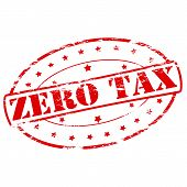 stock photo of zero  - Rubber stamp with text zero tax inside vector illustration - JPG