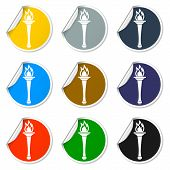 stock photo of torches  - Torch icon  - JPG