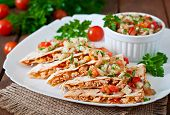 picture of sweet-corn  - Mexican Quesadilla wrap with chicken - JPG