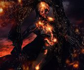 pic of creatures  - Creature made from lava and fire  - JPG