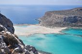 picture of greek-island  - Sea summer landscape coast of the Greek island - JPG