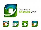 pic of universal sign  - Set of abstract geometric company logo square - JPG