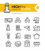 picture of household  - Household icons line series - JPG