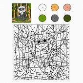 picture of pandas  - Game for children - JPG