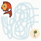 picture of game-fish  - Maze game for children  - JPG