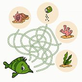 stock photo of game-fish  - Game for children - JPG