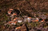 image of canary-islands  - Village in the mountain at Gran Canaria in the Spanish Canary Islands - JPG