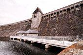 picture of dam  - Mohnesee Westfalia Delecke European German Water Dam  - JPG