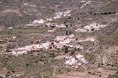 picture of canary  - Village in the mountain at Gran Canaria in the Spanish Canary Islands.
