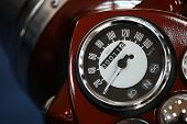 pic of mph  - Color detail with the speedometer of a motorcycle - JPG