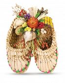 stock photo of phylacteries  - Ukrainian souvenir made of dried materials and plants - JPG