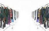 picture of clothes hanger  - Hanger stand fading to background - JPG