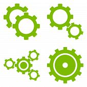 ������, ������: Gear Wheels Flat Vector Symbols