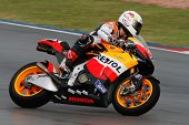 SEPANG - FEBRUARY 05: Andrea Dovizioso of the Repsol Honda team practices in the pre-season testing