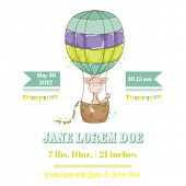 Постер, плакат: Baby Shower or Arrival Card with Baby Giraffe in vector