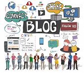 Blog Social Media Networking Content Blogging Concept poster