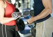pic of lifting weight  - A man and a woman  - JPG